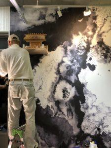 あんの木|オリジナル壁紙|施工風景2