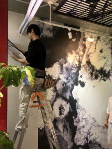 あんの木|オリジナル壁紙|施工風景
